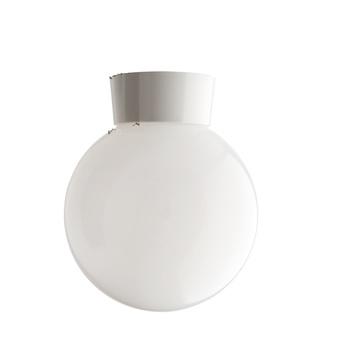Plafonnier 72 blanc globe plastique opalin 014 transparent o20cm h25cm zangra normal