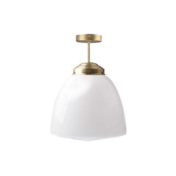 Plafonnier adore l or glass l 002 blanc laiton o31cm h45cm zangra normal