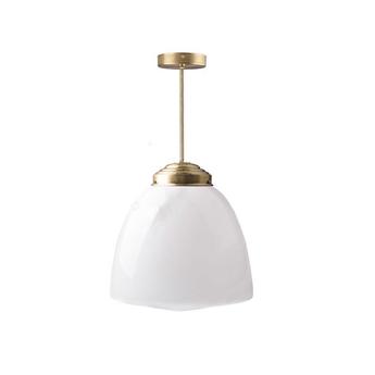 Plafonnier adore l or glass l 002 blanc laiton o31cm h60cm zangra normal