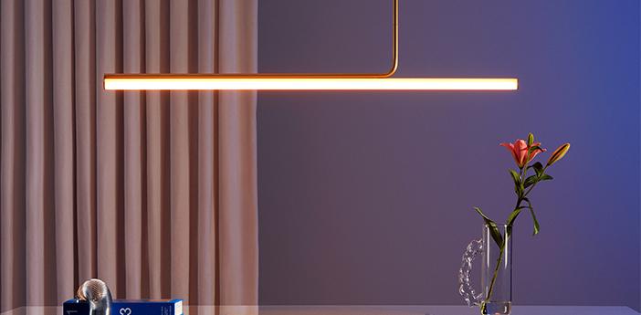 Plafonnier ambrosia 120 60cm or mat led 2700k 1500lm l120cm h86 6cm marset normal