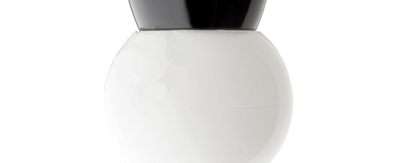 Plafonnier applique bakelite globe 013 noir plastique opale o16 h16cm zangra normal