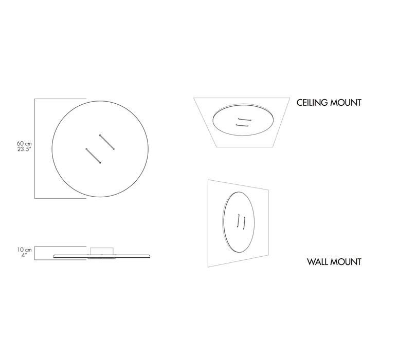 Button 60 lukas peet plafonnier ceilling light  andlight but 60 cw wh 27 010 230  design signed nedgis 88460 product