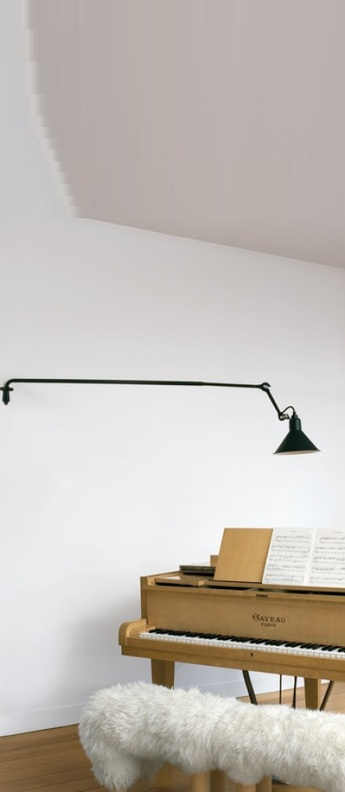 Plafonnier applique lampe gras 213 noir mat l17cm diam 15cm dcw editions normal