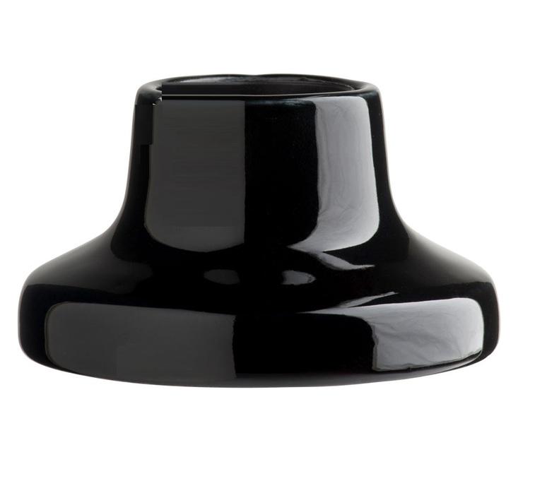 Plafonnier ou applique, porcelaine, noir, en saillie, Ø10, H5,5cm ...