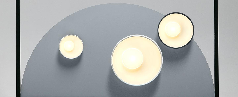 Plafonnier applique sun blanc led 2700k 3688lm dimmable l40cm h40cm marset normal