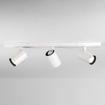 Plafonnier aqua triple bar blanc mat ip44 l60cm h15cm astro normal