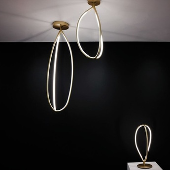 Plafonnier arrival 130 ceiling laiton o36 9cm h130cm artemide normal