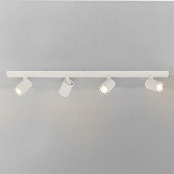Plafonnier ascoli four bar blanc l90cm h13cm astro normal
