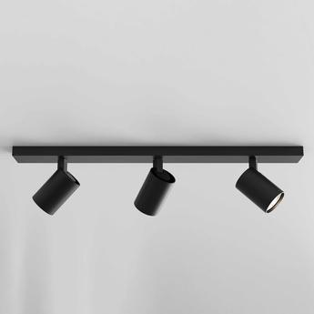 Plafonnier ascoli triple bar noir mat l60cm h13cm astro normal
