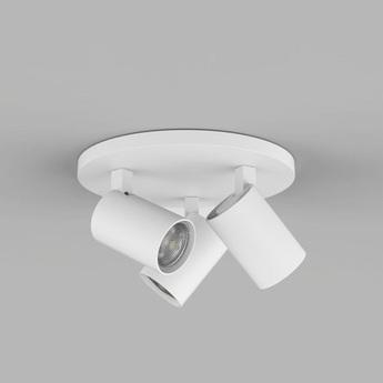 Plafonnier ascoli triple round blanc o22cm h13cm astro normal
