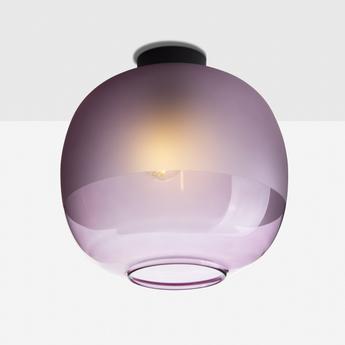 Plafonnier bale violet o25cm h24 5cm zanolla normal