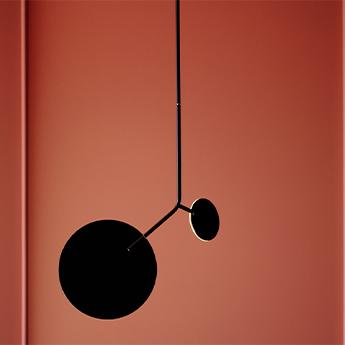 Plafonnier ballon pendant u1 noir led 3000k 500lm o39cm h98cm tunto normal