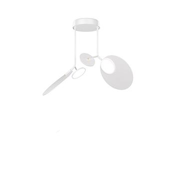 Plafonnier ballon pendant u2 blanc led 3000k 1000lm o78cm h53cm tunto normal