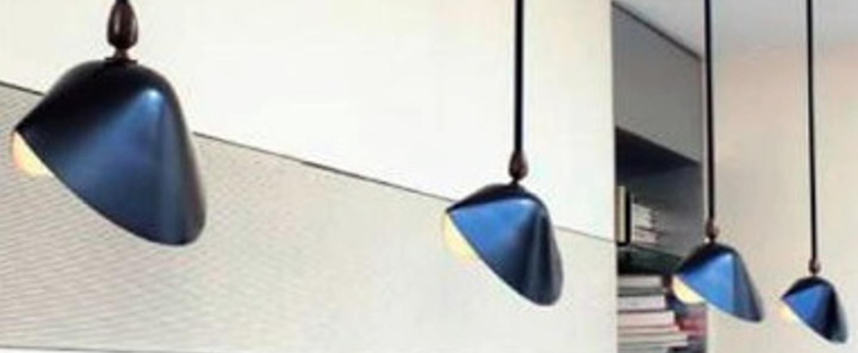 Plafonnier bibliotheque 1 bras fixe noir h100cm serge mouille normal