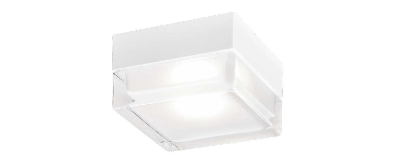 Plafonnier blas 2 0 blanc et transparent ip65 led 3000k 640lm o13cm h7 9cm wever ducre normal