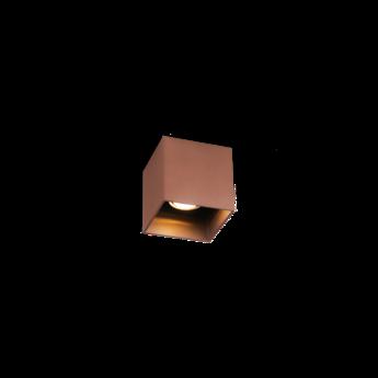 Plafonnier box 1 0 cuivre l10cm h10cm wever ducre normal