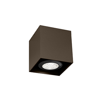Plafonnier box mini 1 0 par16 bronze l7cm h7 5cm wever ducre normal