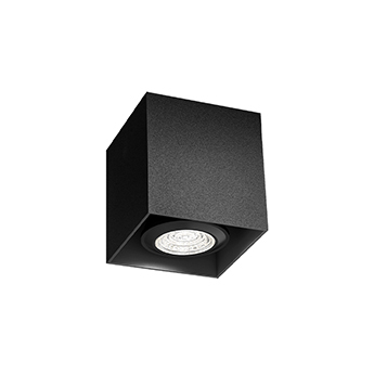 Plafonnier box mini 1 0 par16 noir l7cm h7 5cm wever ducre normal