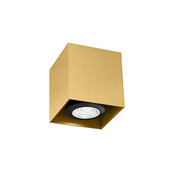 Plafonnier box mini 1 0 par16 or l7cm h7 5cm wever ducre normal