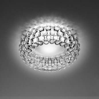 Plafonnier caboche media transparent o50cm h19cm foscarini normal