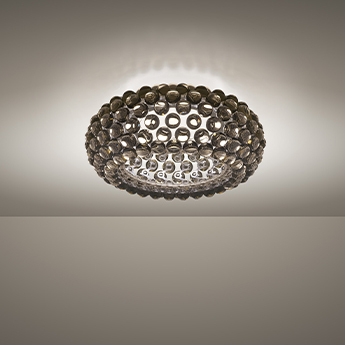 Plafonnier caboche plus gris led 2700k 3645lm o50cm h19cm foscarini normal