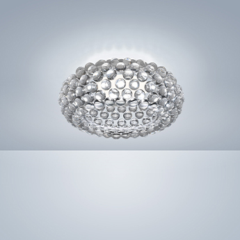 Plafonnier caboche plus transparent led 2700k 3645lm o50cm h19cm foscarini normal