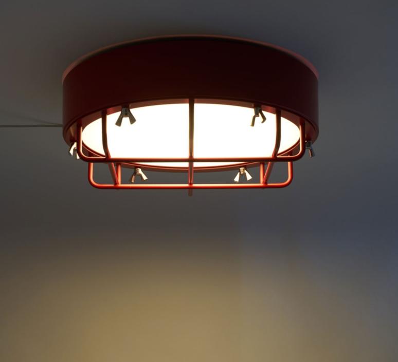 Cantiere alberto ghirardello plafonnier ceilling light  zava cantiere ceilinglight red ral3002  design signed 82575 product