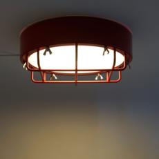 Cantiere alberto ghirardello plafonnier ceilling light  zava cantiere ceilinglight red ral3002  design signed 82575 thumb