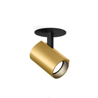 Plafonnier ceno 1 0 noir et or led 2700k 440lm o5cm h8cm wever ducre normal