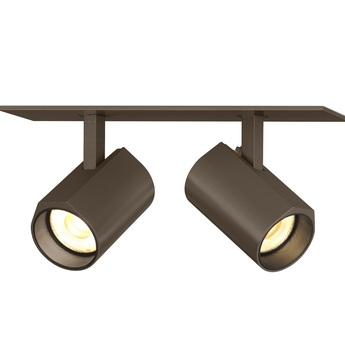 Plafonnier ceno 2 0 bronze led 2700k 2x440lm l15 4cm h4cm wever ducre normal