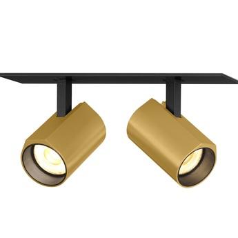 Plafonnier ceno 2 0 noir et or led 2700k 2x440lm l15 4cm h4cm wever ducre normal