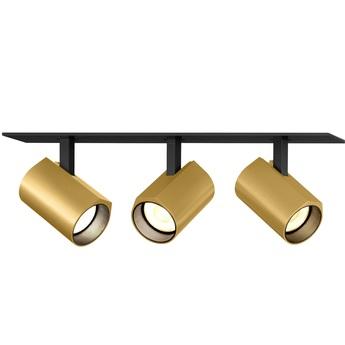 Plafonnier ceno 3 0 noir et or led 2700k 3x440lm l23cm h4cm wever ducre normal