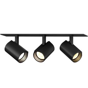 Plafonnier ceno 3 0 noir led 2700k 3x440lm l23cm h4cm wever ducre normal