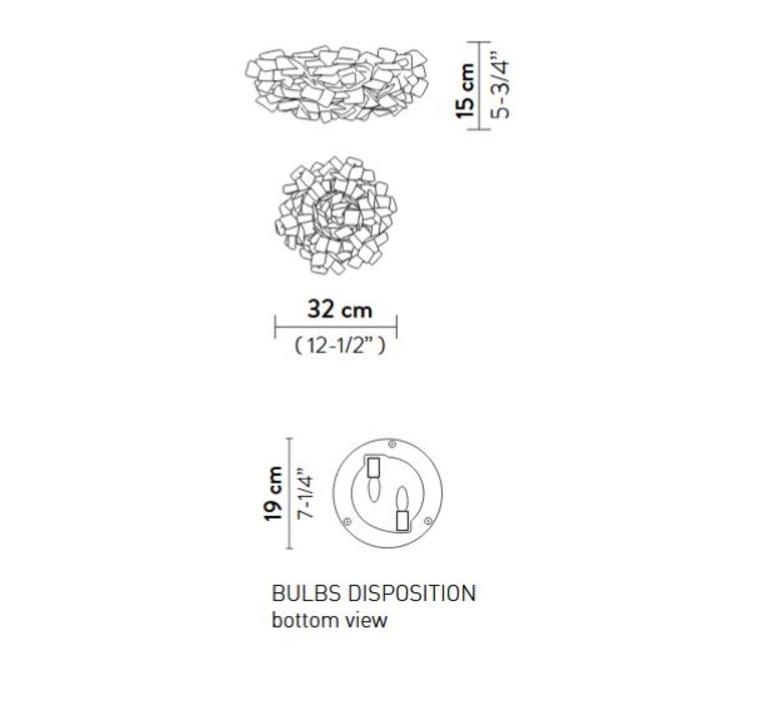 Clizia pixel s adriano rachele plafonnier ceilling light  slamp cli78plf0001px 000  design signed nedgis 66269 product