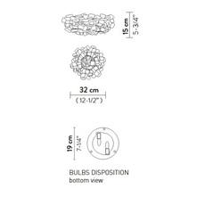 Clizia pixel s adriano rachele plafonnier ceilling light  slamp cli78plf0001px 000  design signed nedgis 66269 thumb