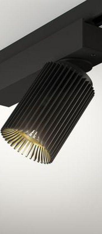 Plafonnier coolfin jr set1 noir led 2700 k 740lm o9 4cm h8 5cm dark normal