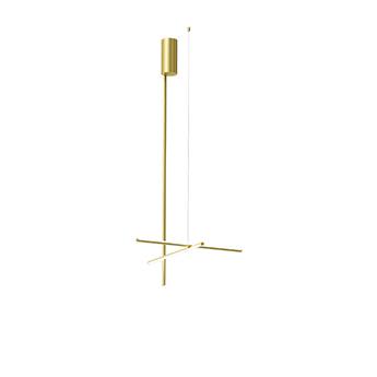 Plafonnier coordinates ceiling 1 long champagne led 2700k 2670lm o78 2cm h172 2cm flos normal