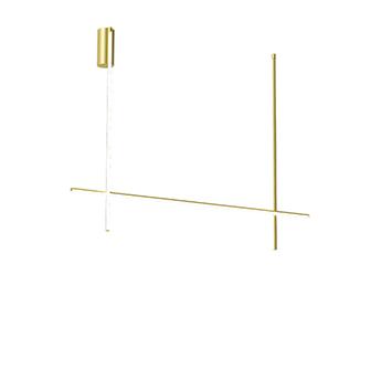 Plafonnier coordinates ceiling 2 champagne led 2700k 3660lm l176 2cm h137 2cm flos normal