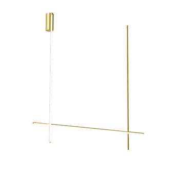 Plafonnier coordinates ceiling 2 long champagne led 2700k 4470lm l176 2cm h186 2cm flos normal