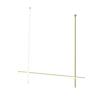 Plafonnier coordinates ceiling 2 long cliii champagne led 2700k 4470lm l176 2cm h186 2cm flos normal