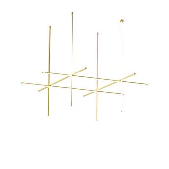 Plafonnier coordinates ceiling 4 cliii champagne led 2700k 8830lm o176 2cm h95cm flos normal