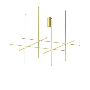 Plafonnier coordinates ceiling 4 long champagne led 2700k 10450lm o176 2cm h144 2cm flos normal