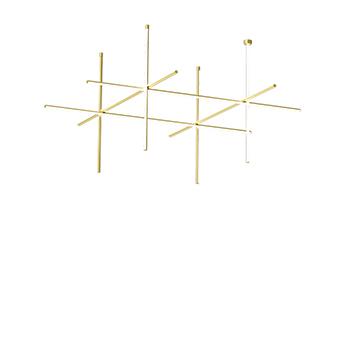 Plafonnier coordinates ceiling 4 long cliii champagne led 2700k 10450lm o176 2cm h144 2cm flos normal