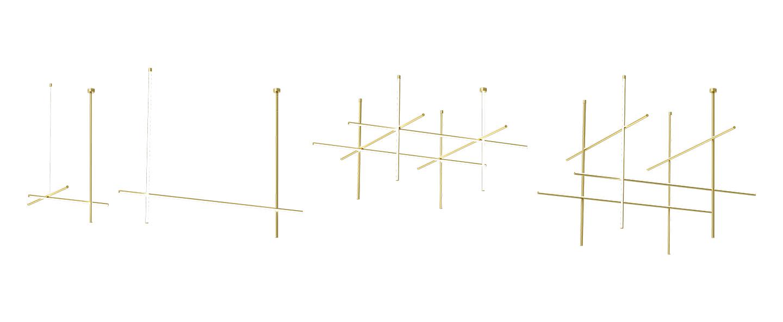 Plafonnier coordinates ceiling module champagne led 2700k 10230lm o176 2cm h137cm flos normal