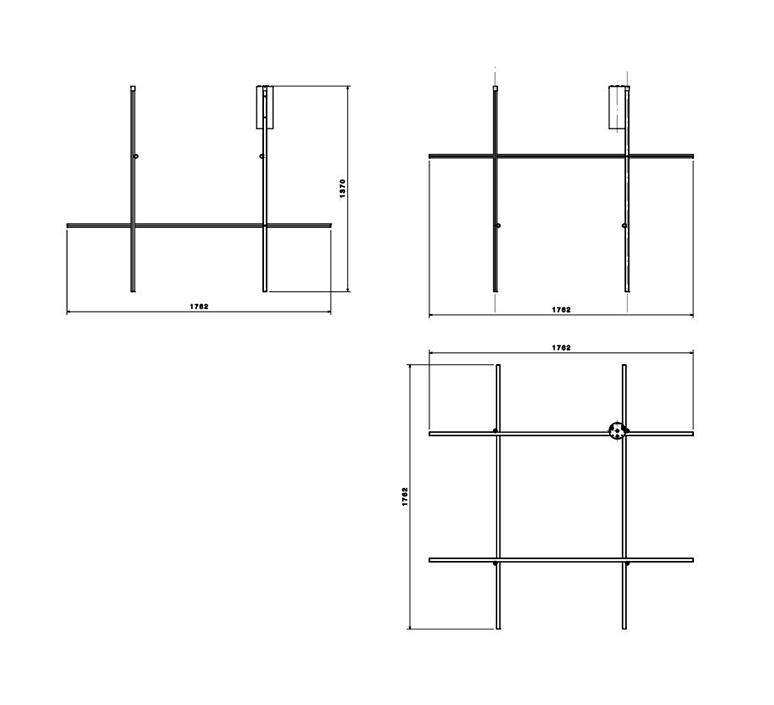 Coordinates ceiling module michael anastassiades plafonnier ceiling light  flos f1883044  design signed nedgis 99354 product
