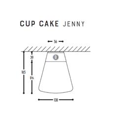 Cup cake jenny susanne uerlings plafonnier ceilling light  dark 1061 68 804002 00  design signed nedgis 68317 thumb