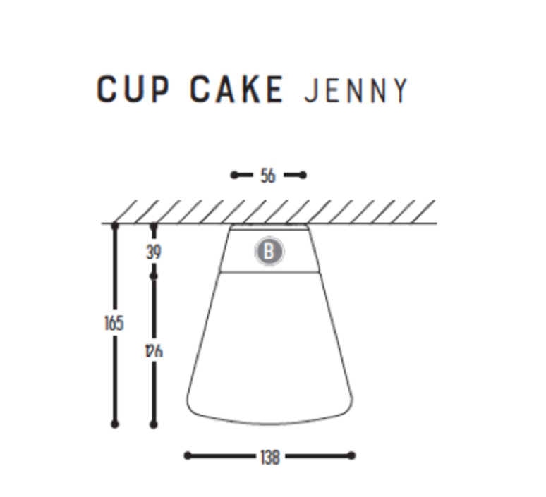 Cup cake jenny susanne uerlings plafonnier ceilling light  dark 1061 110 804002 00  design signed nedgis 68313 product