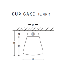 Cup cake jenny susanne uerlings plafonnier ceilling light  dark 1061 110 804002 00  design signed nedgis 68313 thumb