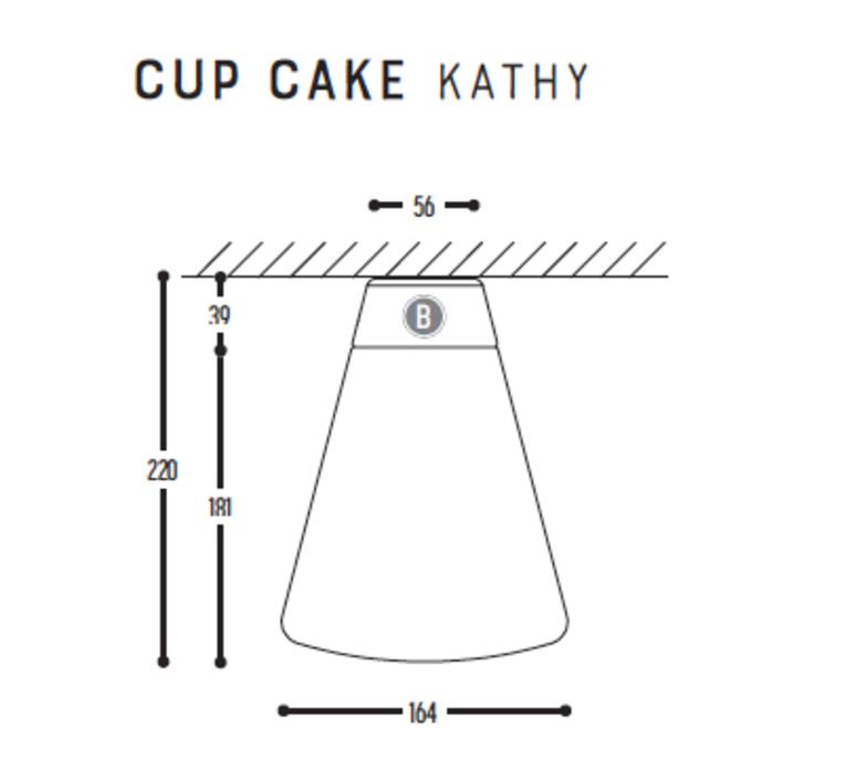 Cup cake kathy susanne uerlings plafonnier ceilling light  dark 1062 03 804002 00  design signed nedgis 68330 product