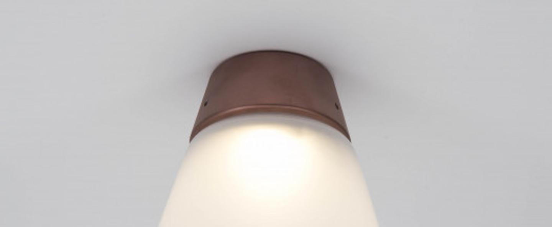 Plafonnier cup cake kathy cuivre led 2700 k 400 lm o16 4cm h22cm dark normal